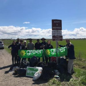 Group of volunteers with the Green Party